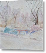 Central Park Record Early March Cold Circa 2007 Metal Print