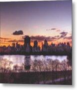 Central Park Rises Metal Print by Ariane Moshayedi