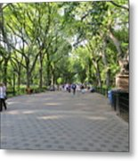 Central Park The Mall Metal Print