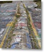 Centralia Graffiti Highway Metal Print