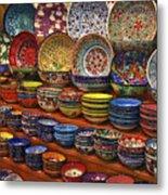 Ceramic Dishes Metal Print