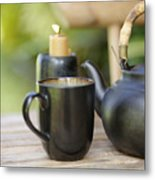 Ceramic Tea Set Metal Print