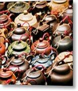 Ceramic Teapots Metal Print
