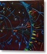 Cern Atomic Collision  Physics And Colliding Particles Metal Print