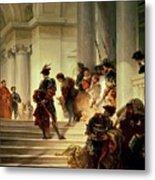 Cesare Borgia Leaving The Vatican Metal Print by Giuseppe Lorenzo Gatteri