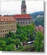 Cesky Krumlov Castle Complex In The Czech Republic Metal Print