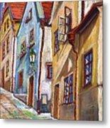 Cesky Krumlov Old Street 2 Metal Print by Yuriy  Shevchuk