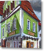 Cesky Krumlov Old Street 3 Metal Print