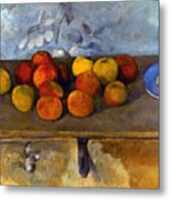 Cezanne: Apples & Biscuits Metal Print