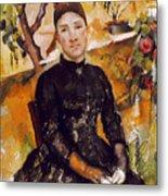Cezanne: Mme Cezanne, 1890 Metal Print