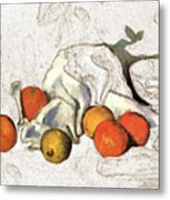 Cezanne Oranges Digital Art Metal Print