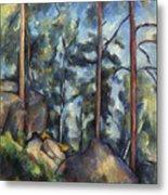 Cezanne: Pines, 1896-99 Metal Print