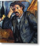 Cezanne: Pipe Smoker, 1900 Metal Print