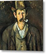 Cezanne: Pipe Smoker, C1892 Metal Print
