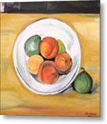 Cezannes Fruit Bowl Metal Print