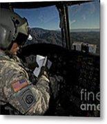 Ch-47 Chinook Pilot Refers Metal Print