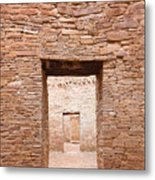 Chaco Canyon Doorways 1 Metal Print