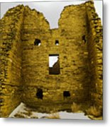 Chaco Canyon Ruins Metal Print