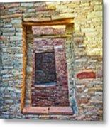 Chaco Canyon Windows Metal Print