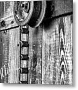 Chain And Pully Metal Print