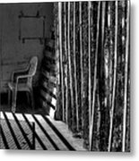 Chain Barrier Metal Print