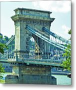 Chain Bridge Budapest Metal Print