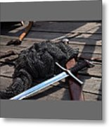 Chain Mail And Sword Metal Print