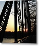 Chain Of Rocks At Sunset Metal Print