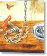 Chain Smoking Metal Print