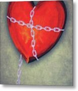Chained Heart Metal Print by Jeff Kolker