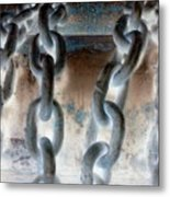 Chains - Nagative Metal Print