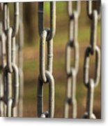 Chains Abstract 1 Metal Print