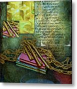 Chains, Poetry And Spirits Metal Print