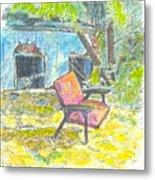 Chair, 27 September, 2015 Metal Print