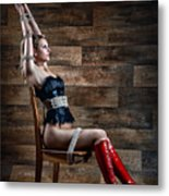 Chair Bondage - Fine Art Of Bondage Metal Print