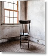 Chair By The Window Grafton Ghost Town Metal Print