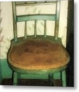 Chair In Isolated Corner Metal Print