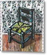 Chair Ix Metal Print by Peter Allan