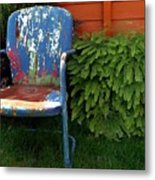Chair Of Many Colors Metal Print
