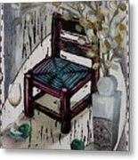 Chair X Metal Print by Peter Allan