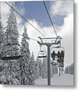 Chairlift At Vail Resort - Colorado Metal Print