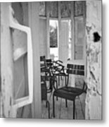 Chairs And Doors  Metal Print