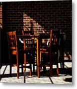 Chairs And Shadows Metal Print