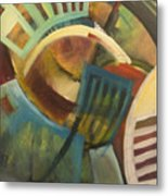 Chairs Around The Table Metal Print