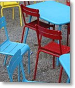 Chairs In Bryant Park Metal Print by Lauri Novak