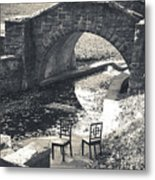 Chairs - Stone Bridge Metal Print
