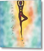 Chakra Yoga Art By Valentina Miletic Metal Print