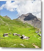 Chalets De Clapeyto # II - French Alps Metal Print