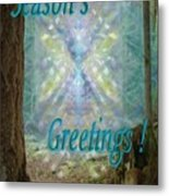 Chalice-tree In The Forest V2 Holiday Card Metal Print