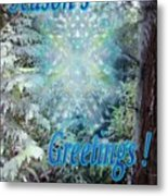 Chalice-tree Spirit In The Forest V3 Holiday Card Metal Print